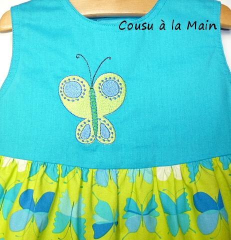Robe Bébé Imprimé Papillons Turquoise