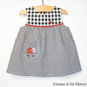 Robe Bébé à Carreaux Vichy Noir & Blanc