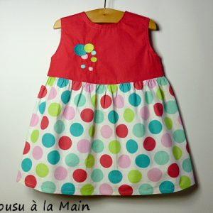 Robe Bébé Imprimé aux Pastilles Multicolores
