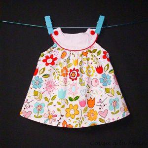 Robe Bébé Sans Manches Imprimé à Fleurs