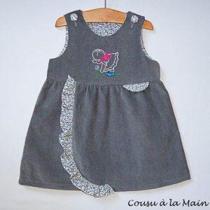 Robe Chasuble Bébé en Velours Milleraies
