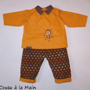 Pantalon Bébé en Velours Imprimé & Brassière