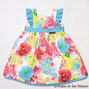 Robe Habillée Bébé Imprimé à Fleurs Multicolores