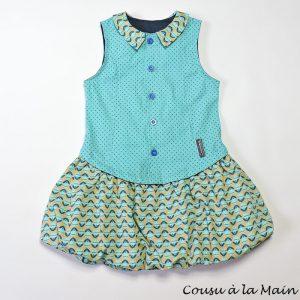 Robe Boule Enfant Imprimé Turquoise