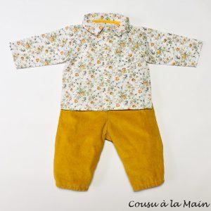 Pantalon Bébé en Velours Milleraies & Chemise