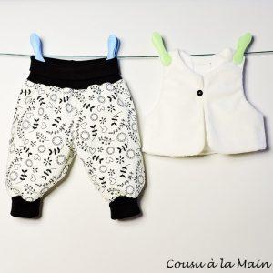 Gilet de Berger Bébé & Pantalon en Jersey Imprimé