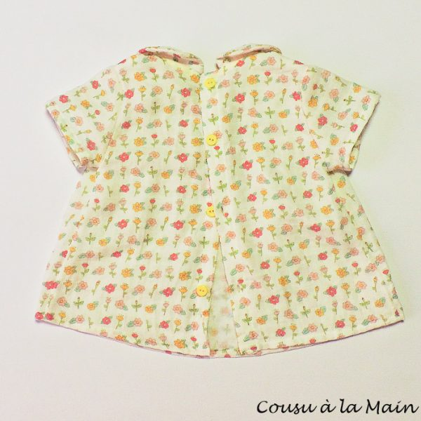 Blouse Bébé Fille Double Gaze Imprimée Bloomer Assorti