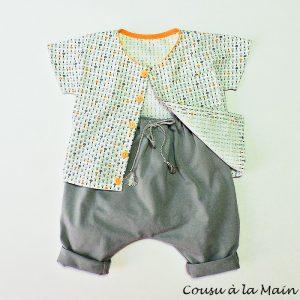 Chemise Bébé Garçon Manches Courtes & Pantalon Sarouel
