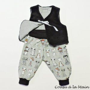 Pantalon Bébé Jersey Gilet de Berger Peluche