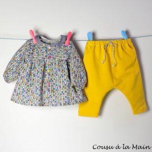 Blouse Bébé Fille & Pantalon Sarouel Coordonné