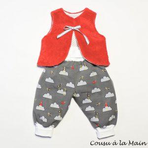 Pantalon Bébé en Jersey & Gilet de Berger