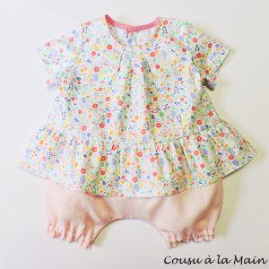 Blouse Bébé Fille & Bloomer Assorti