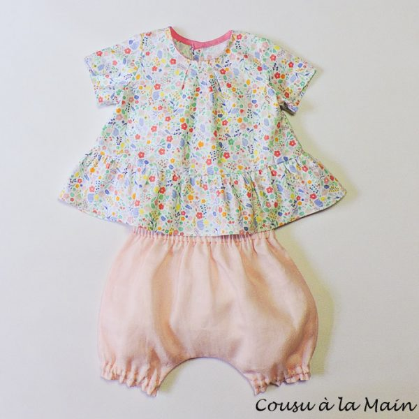 Blouse Bébé Fille & Bloomer Assorti